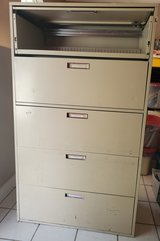 5 drawer filing cabinet in Lackland AFB, Texas