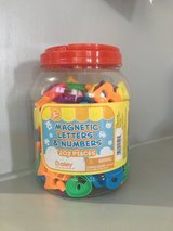 Magnetic letters and numbers in Camp Pendleton, California