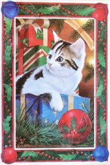 Swedish vintage greeting cards (5) with cats in Okinawa, Japan