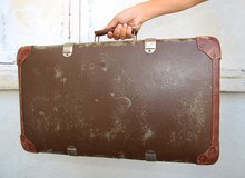 Century-old Austrian suitcase in Okinawa, Japan