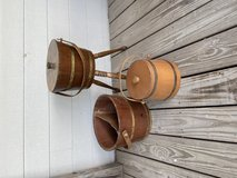 Wooden primitive bucket lot in Baytown, Texas