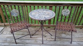 Heavy Metal and Stone Bistro Set in Fort Campbell, Kentucky
