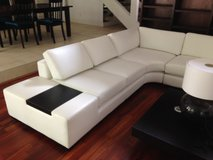 Large White Sectional Sofa, Coffee Table, and Lamp in Kingwood, Texas