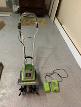 Earthwise 11 inch tiller/cultivator 40 V Cordless in Naperville, Illinois