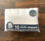 Package of 10 unused GERBER cloth diapers! in Beaufort, South Carolina