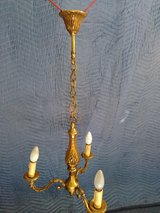 Vintage French Bronze Chandelier with three lights ormolu in Ramstein, Germany