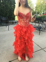 Red Sherri Hill Evening Dress in Naperville, Illinois