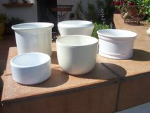 Planters, Porcelain (Set of 5) in Ramstein, Germany