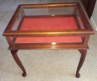 Glass Top Table, lifts to store collectibles - Price Reduced! in Kingwood, Texas