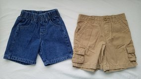 2 Boys Elastic Waist Shorts, Size 24M in Fort Campbell, Kentucky
