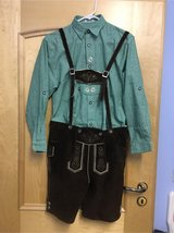 Lederhosen with shirt size 164/176 in Stuttgart, GE