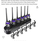 Retevis Rt-5rv Two Way Radio 6 Handsets With Individual Chargers And 6 Way... in Beaufort, South Carolina