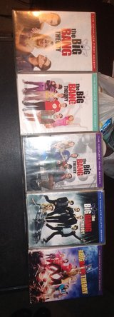Big Bang Theory DVD season 1-5 in Clarksville, Tennessee