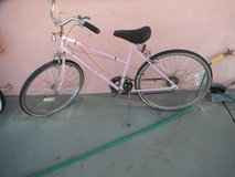 """Ladies HUFFY bike, """"Savannah"""", 26"""", 5 speed, pink color,  made in USA in Yucca Valley, California"""