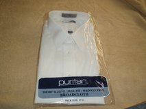 Puritan Short sleeve Men's White Dress Shirt in Yorkville, Illinois
