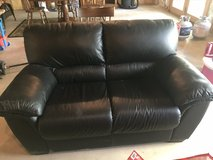 Leather Love Seat - hardly used in Naperville, Illinois
