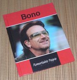 Bono Remarkable People Hard Cover Book U2 in Plainfield, Illinois