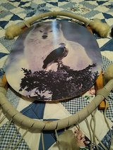 a wolf and eagle in Alamogordo, New Mexico