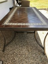 Outdoor Patio Set w/large table & 6 high back chairs in Ramstein, Germany