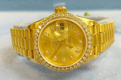 Ladies 18k Yellow Gold Presidential Diamond Dial & Bezel 2006 Rolex, in Wilmington, North Carolina