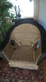 VERY WELL MADE REAL WICKER ROLL ARM CHAIR in Yorkville, Illinois