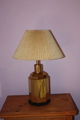 Lamp with pleated shade in Alamogordo, New Mexico