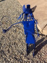 Metal Cowgirl sculptures in Alamogordo, New Mexico