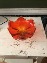 orange glass candy dish in Morris, Illinois