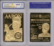 *~* 1996 HANK AARON * 755 Home Run King * 23K GOLD CARD - GEM-MINT 10 *~* in Tacoma, Washington