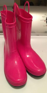 Girls pink rainboots in Naperville, Illinois