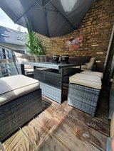 Outdoor Table and 2 sitting stools in Wiesbaden, GE