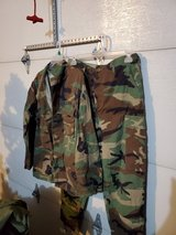 Hot weather woodland uniform in Fort Leonard Wood, Missouri