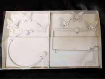 butterfly toilet roll and hand towel holder, new in Lakenheath, UK