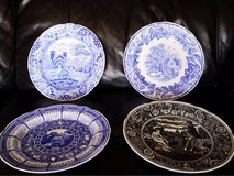 the Spode blue room collectible plates in Lakenheath, UK