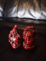 pair of Buddha ornaments in Lakenheath, UK