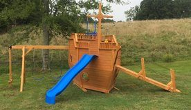 Large Boat swing set used in Fort Campbell, Kentucky