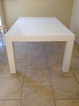 White dining table in Pasadena, Texas