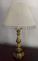 "Brass Lamp with Jeweled Lamp Shade, 28"" Tall in Kingwood, Texas"