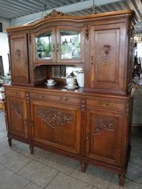 fine Louis XV style dining room hutch with facetted glass in Stuttgart, GE