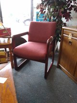 2 Burgundy Side Chairs in Naperville, Illinois