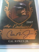 *~* CAL RIPKEN JR. *~* Autographed SP 2007 Leaf Legends of Sport Enshrined HOF in Tacoma, Washington