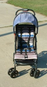 stroller / blue gray purple black in Warner Robins, Georgia