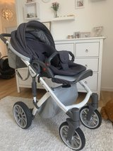 Stroller Anex Sport Grey and White including car seat in Wiesbaden, GE