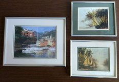 Framed Sail Boat prints, matted in silver frames, set of 3 in Kingwood, Texas