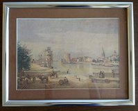 The Harbor of La Rochelle (1851) by Jean-Baptiste-Camille Corot, matted and framed print in Kingwood, Texas