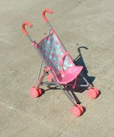 doll stroller / pink green with hearts in Byron, Georgia