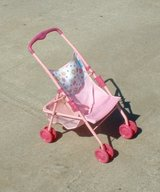 doll stroller for toddler small pink white with flowers in Byron, Georgia