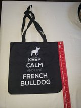 "Brand New with Tag - French Bull Dog Tote Bag ""Keep Calm..."" in Travis AFB, California"