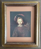 """Rembrandt's """"Portrait of a Boy"""" matted and framed print, 14.5"""" x 17.5"""" in Kingwood, Texas"""