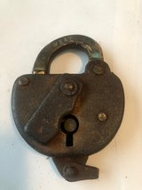 Antique M K & T Railroad switch Lock in Cleveland, Texas